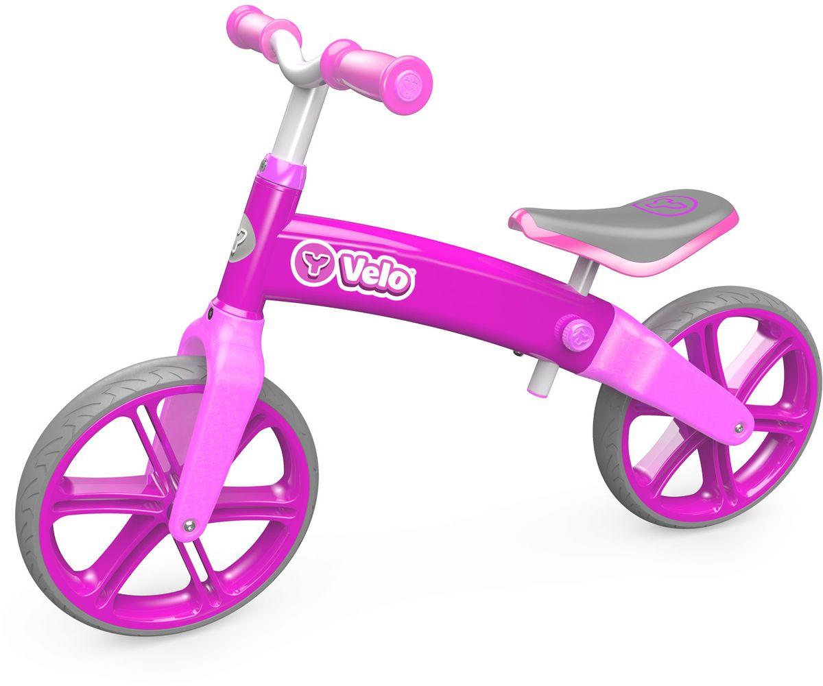 все цены на Y-Volution Беговел детский Velo Balance цвет розовый онлайн