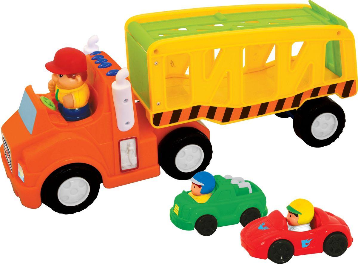 Kiddieland Развивающая игрушка Автоперевозчик kiddieland развивающая игрушка пианино с животными минни маус и друзья kiddieland