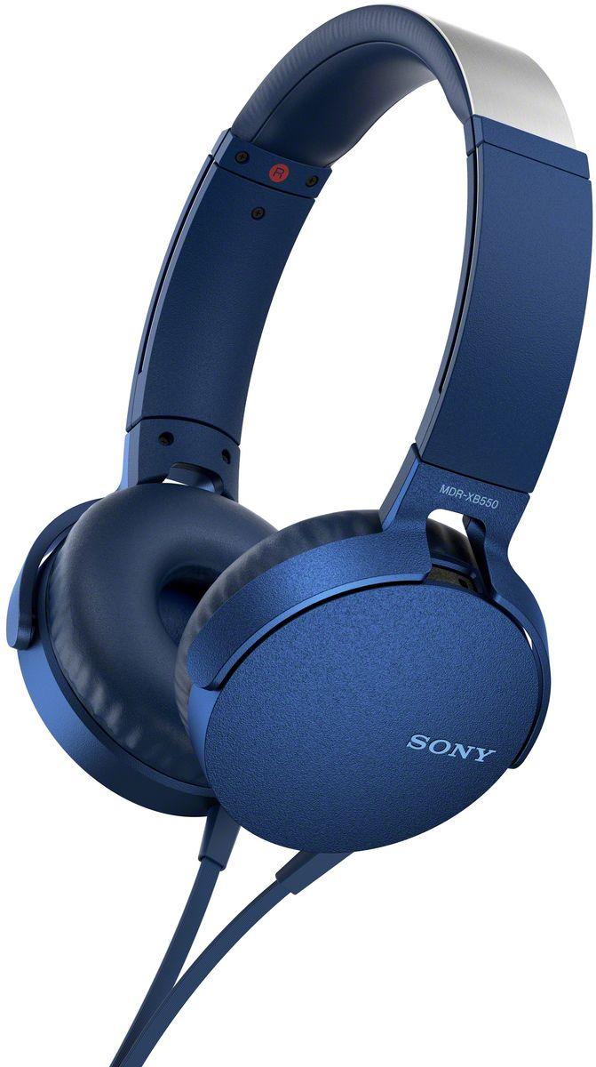 Sony XB550AP Extra Bass, Blue наушники