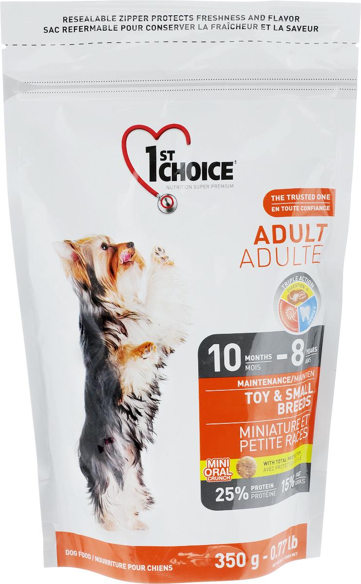 """Корм сухой 1st Choice """"Adult"""" для взрослых собак миниатюрных и мелких пород, с курицей, 350 г"""