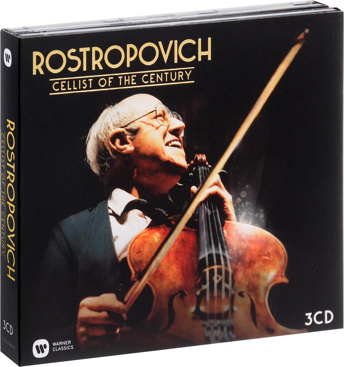 Мстислав Ростропович Mstislav Rostropovich. Cellist Of The Century (3 CD) mstislav rostropovich brahms the cello sonatas