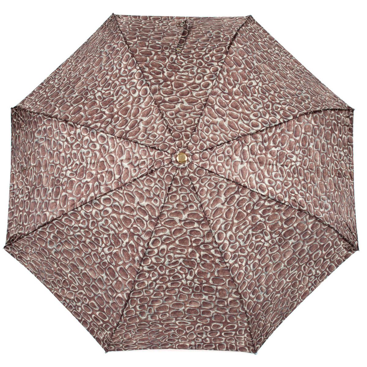 Зонт женский Stilla, автомат, 3 сложения, цвет: темно-коричневый. 572/2 mini зонт stilla 680auto 1 светло коричневый