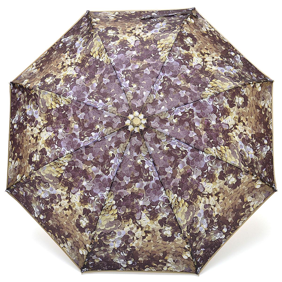 Зонт женский Stilla, автомат, 3 сложения, цвет: золотой, коричневый. 696/1 mini зонт stilla 680auto 1 светло коричневый