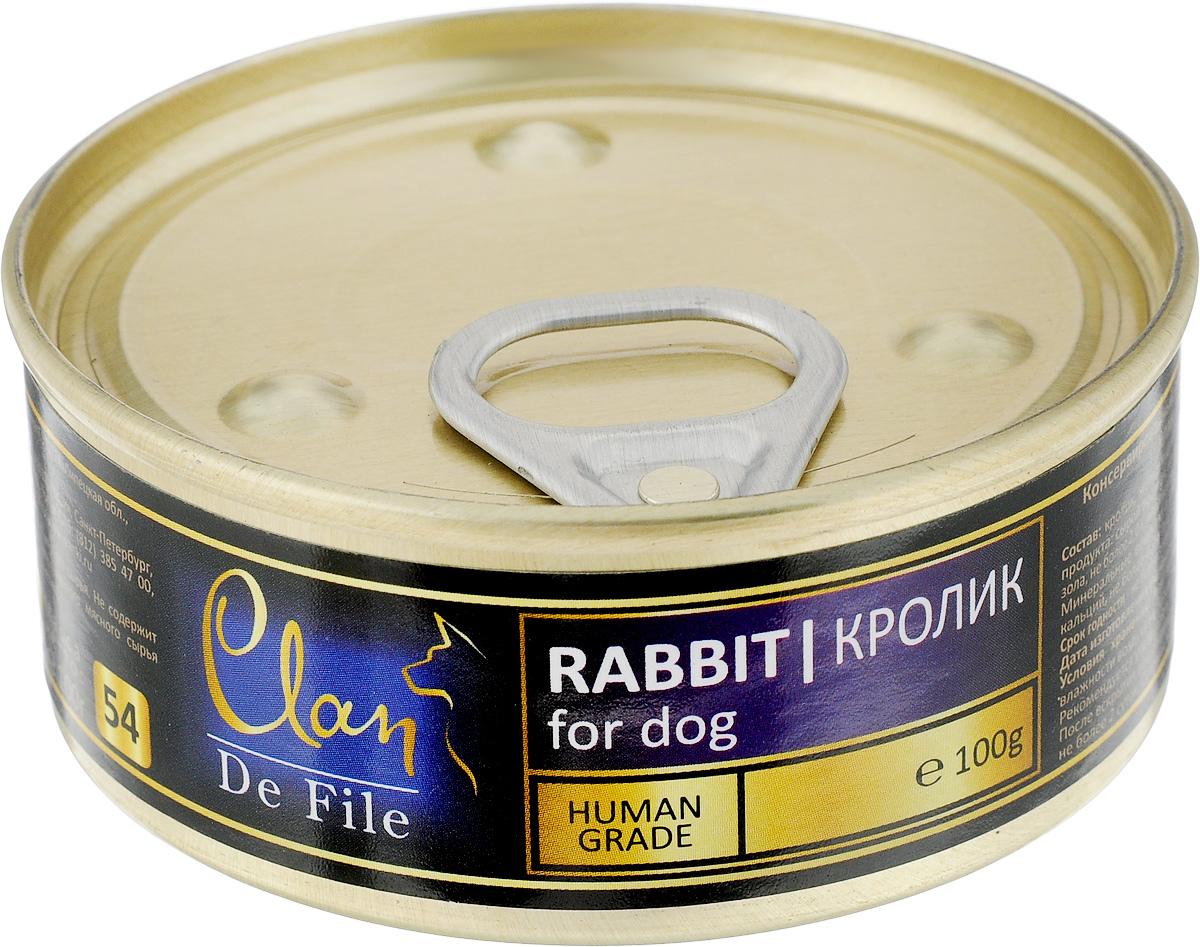 """Консервы для собак Clan """"De File"""", с кроликом, 100 г"""