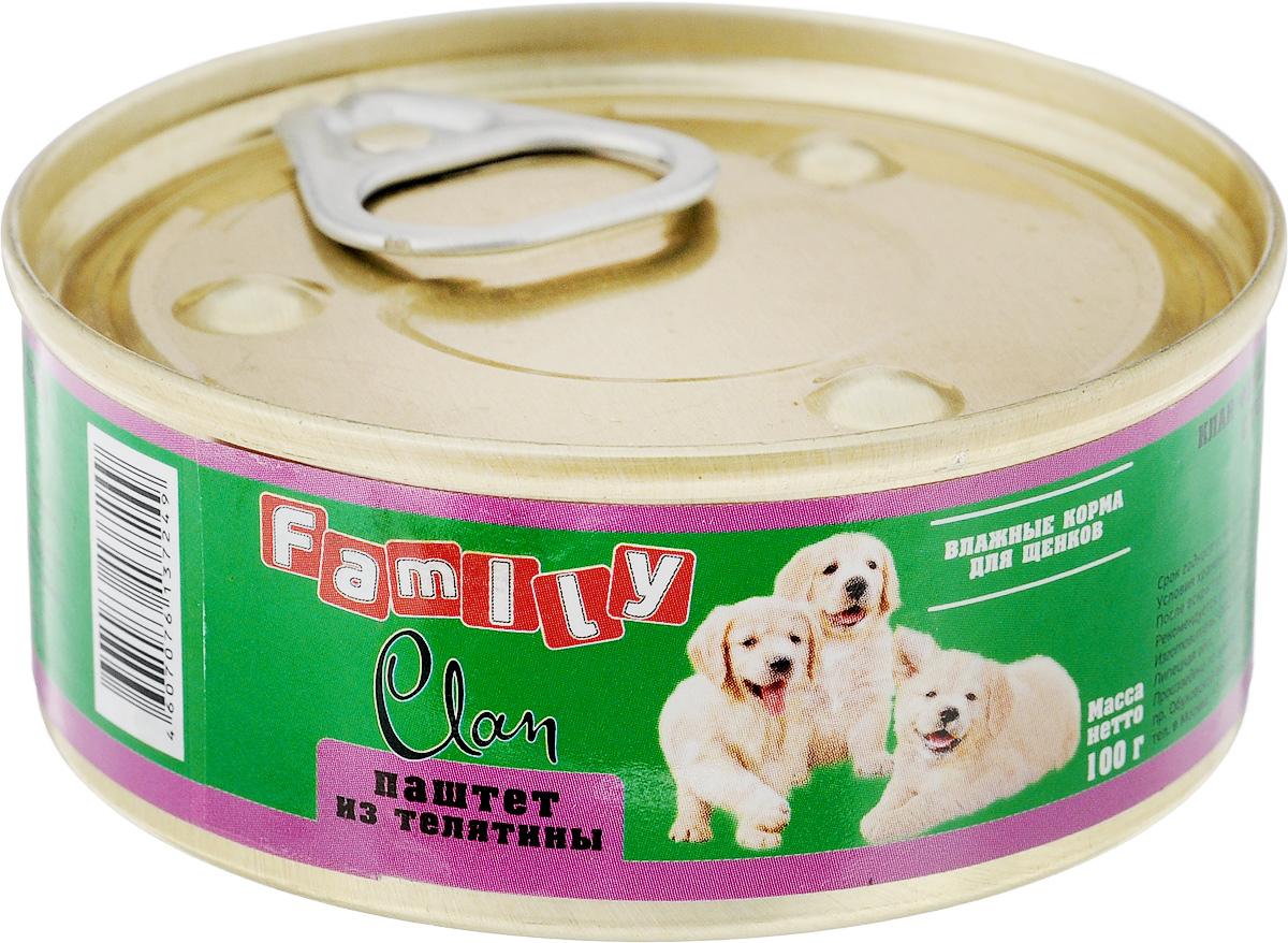 """Консервы для щенков Clan """"Family"""", паштет из телятины, 100 г"""