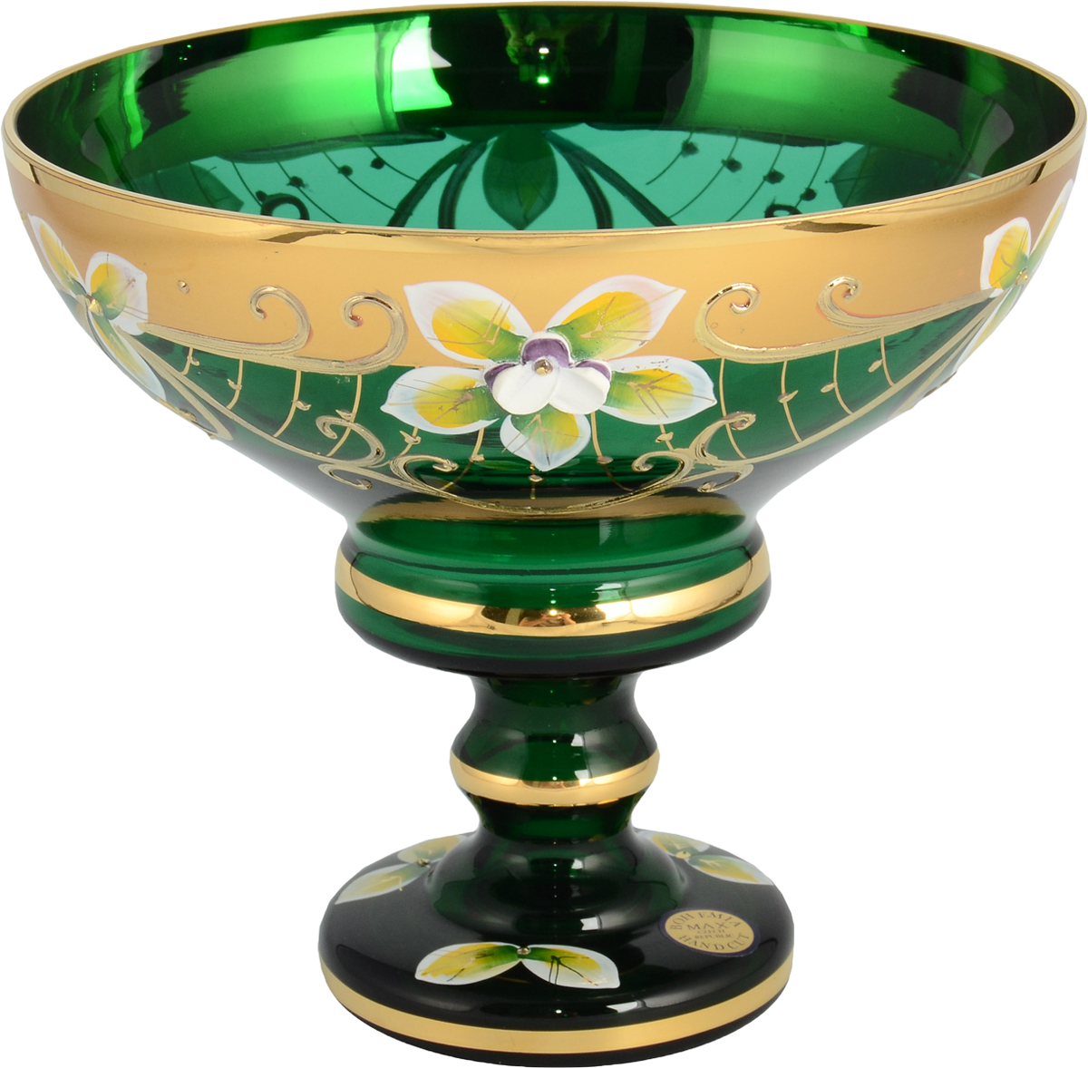 Конфетница Star Crystal, цвет: зеленый, 13 см. 24527