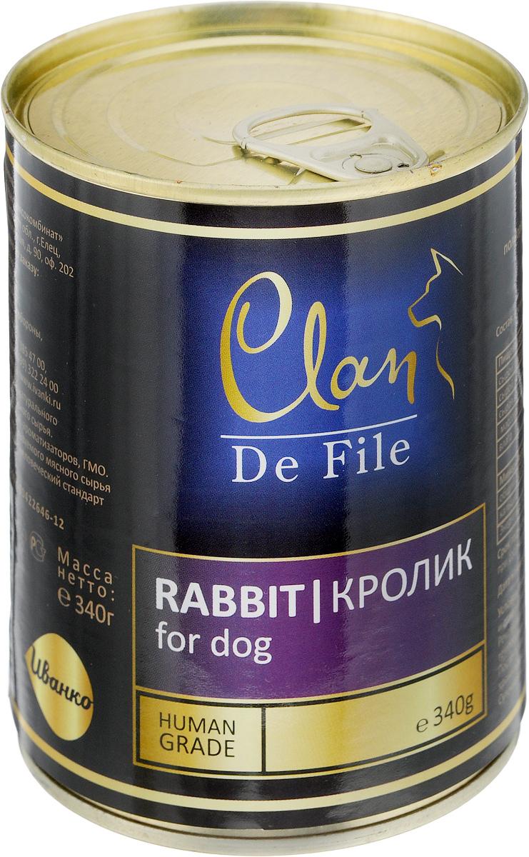 """Консервы для собак Clan """"De File"""", с кроликом, 340 г"""
