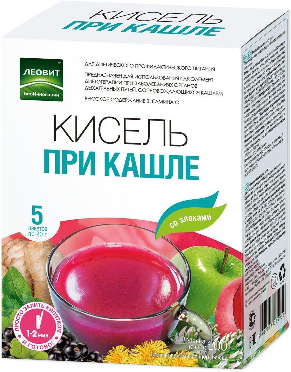 БиоИнновации Кисель при кашле, 5 пакетов по 20 г