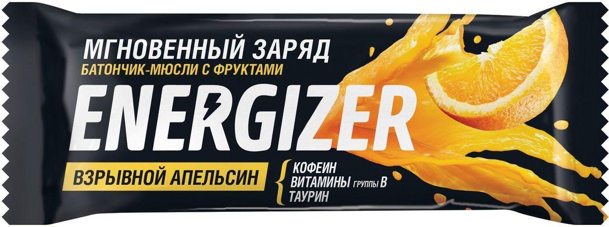 Energizer Взрывной апельсин батончик-мюсли с фруктами, 40 г цена в Москве и Питере