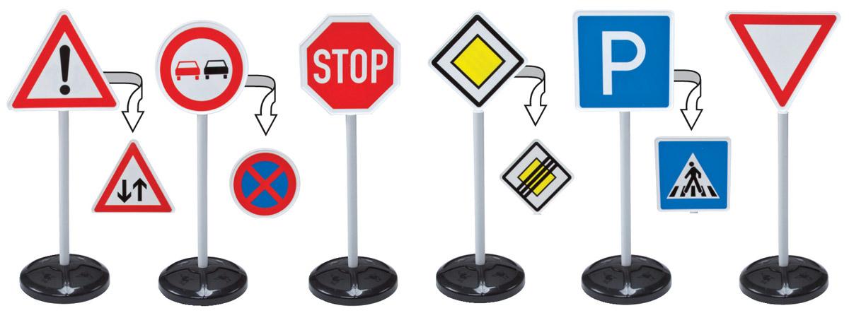 Фото - Big Игрушечные дорожные знаки Traffic Signs 6 шт big игровой набор big дорожные знаки 69 см 3 шт