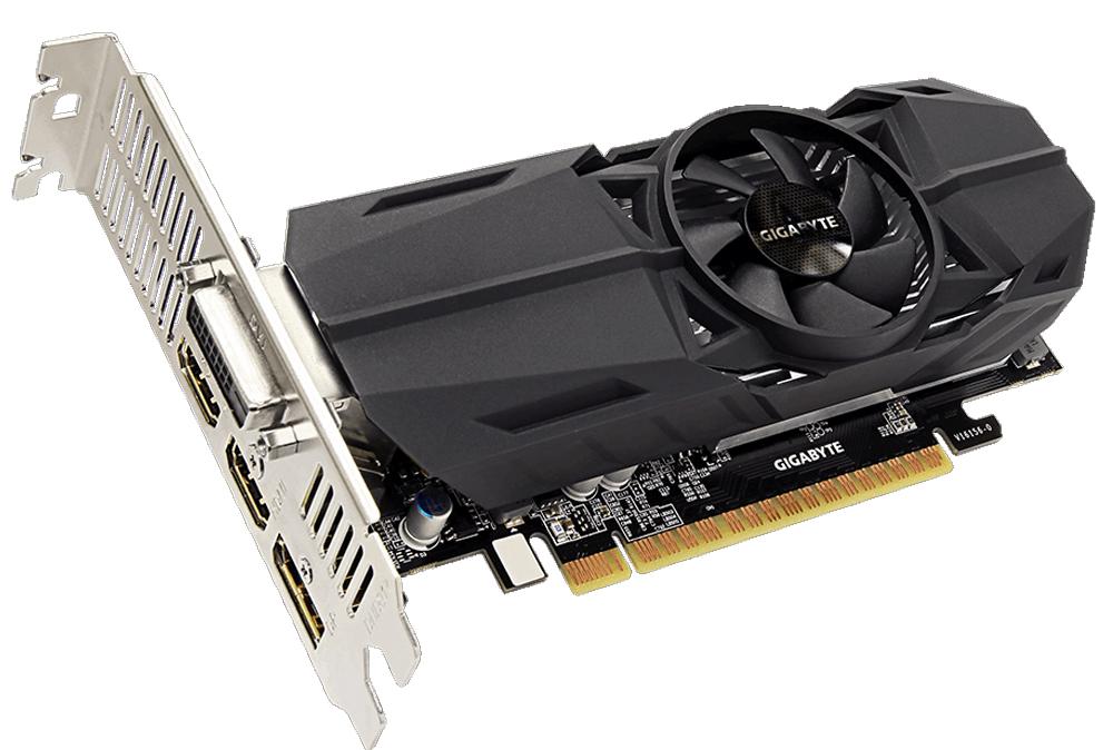 Видеокарта Gigabyte GeForce GTX 1050 Ti OC Low Profile 4GB, GV-N105TOC-4GL