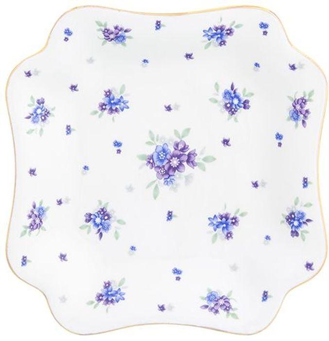 Блюдо для нарезки Elan Gallery Сиреневый туман, 17,5 х 17,5 х 2,5 см блюдо для сыра elan gallery сыр 24 см