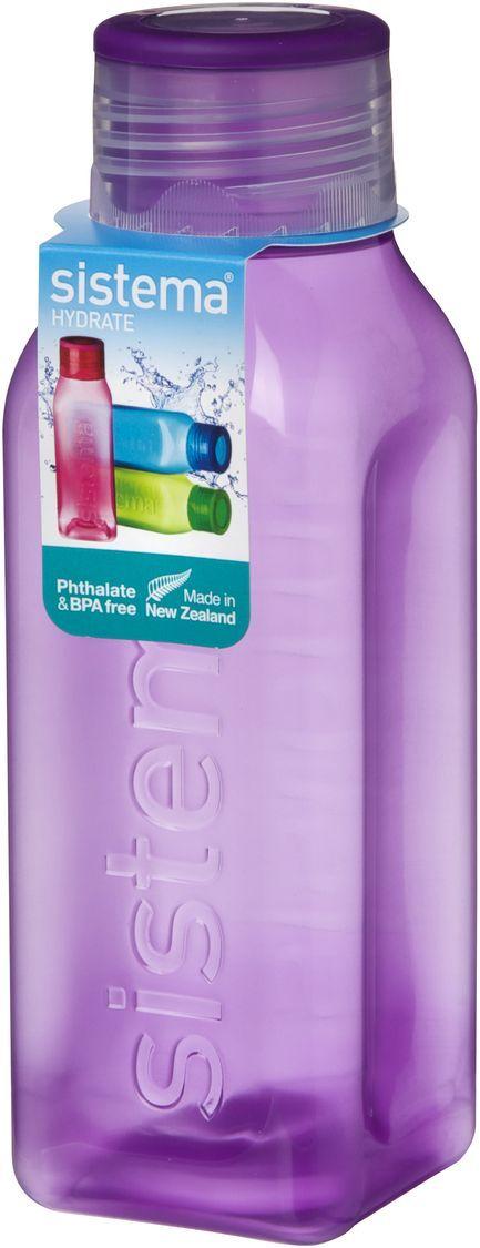 Бутылка для воды Sistema Hydrate, цвет: фиолетовый, 475 мл. 870 sistema бутылка для воды hydrate 620 мл 6 7х22 5 см 795 sistema