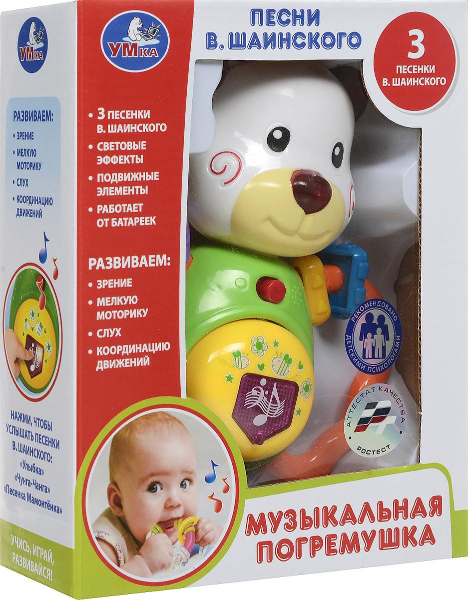 Развивающая игрушка Умка ПОГРЕМУШКА НА БАТАРЕЙКАХ. СВЕТ+ЗВУК, РУСИФИЦИРОВАННАЯ. белый, зеленый