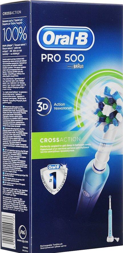 Braun Oral-B Pro 500 D16.513U электрическая зубная щетка Уцененный товар (№41)