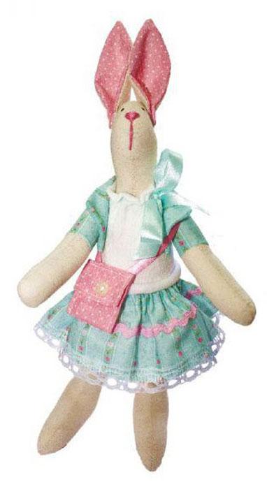 """Набор для изготовления текстильной игрушки Кустарь """"Зайка Модница"""", высота 29 см"""