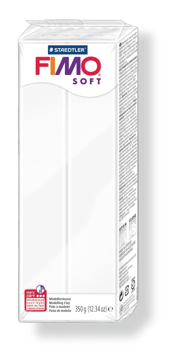 Глина полимерная Fimo Soft, цвет: белый, 350 г fimo effect полимерная глина 56 гр цвет синий металлик 8020 302