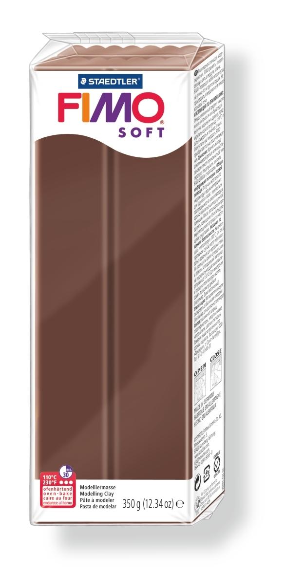Глина полимерная Fimo Soft, цвет: шоколад, 350 г fimo effect полимерная глина 56 гр цвет синий металлик 8020 302