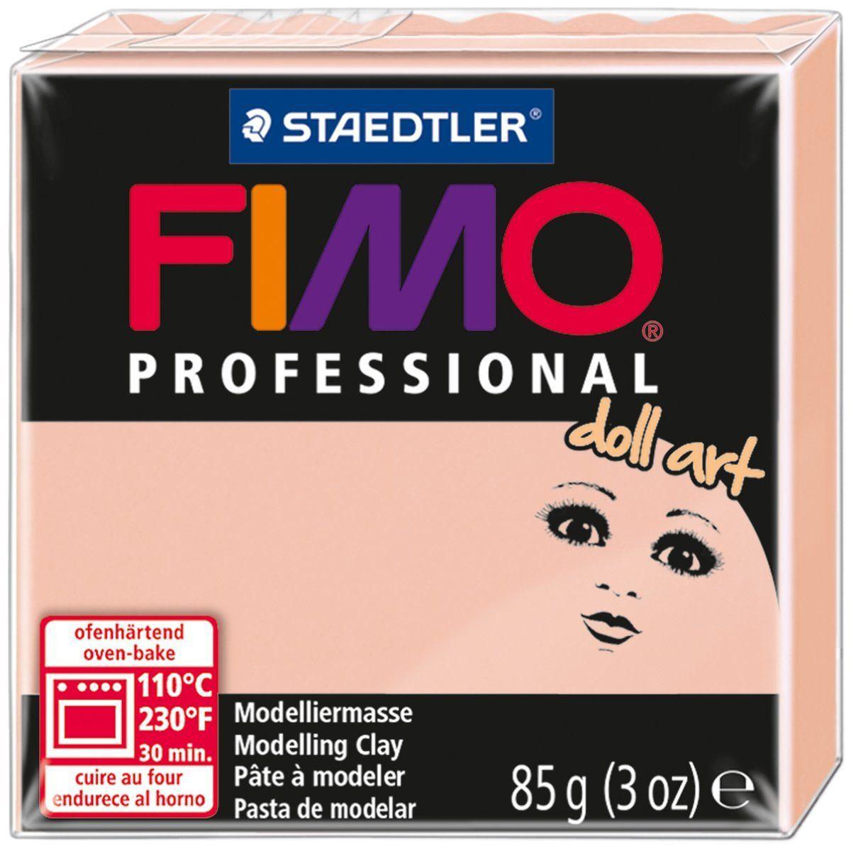Глина полимерная Fimo Professional Doll Art, цвет: полупрозрачный розовый, 85 г fimo effect полимерная глина 56 гр цвет синий металлик 8020 302