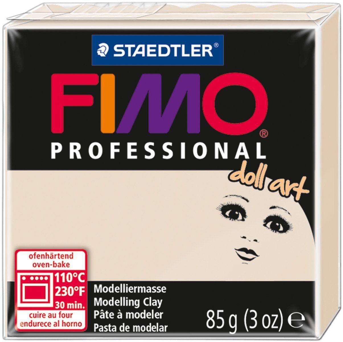 Глина полимерная Fimo Professional Doll Art, цвет: полупрозрачный бежевый, 85 г fimo effect полимерная глина 56 гр цвет синий металлик 8020 302