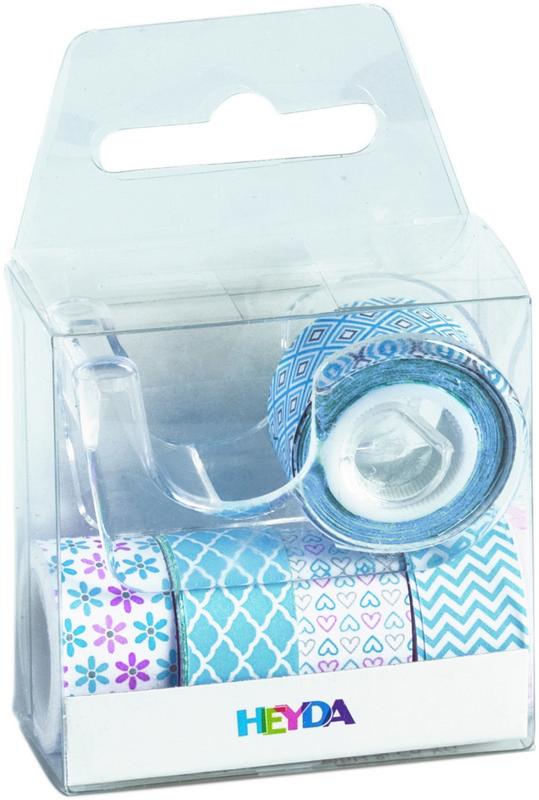 Набор декоративных клеевых лент Stewo Pastel Mini, цвет: голубой, 5 шт набор декоративных цветов scrapberry s цвет белый 10 шт