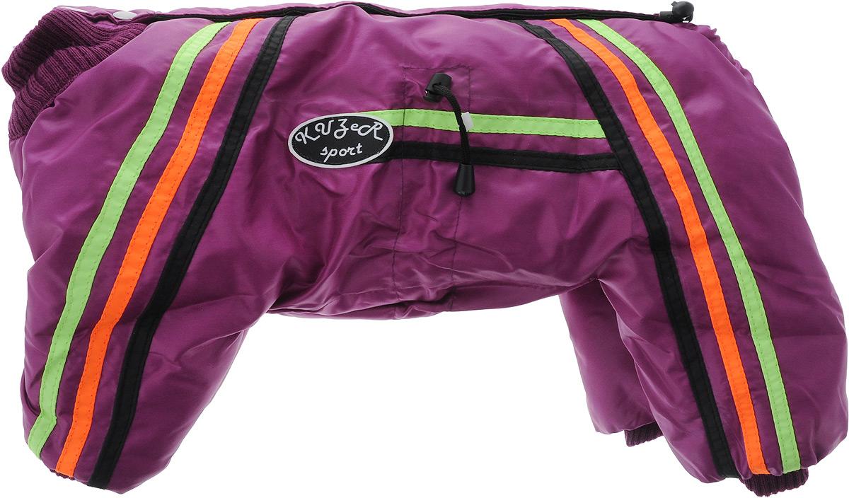 """Комбинезон для собак Kuzer-Moda """"Спринт"""", унисекс, утепленный, цвет: темно-розовый. Размер M"""
