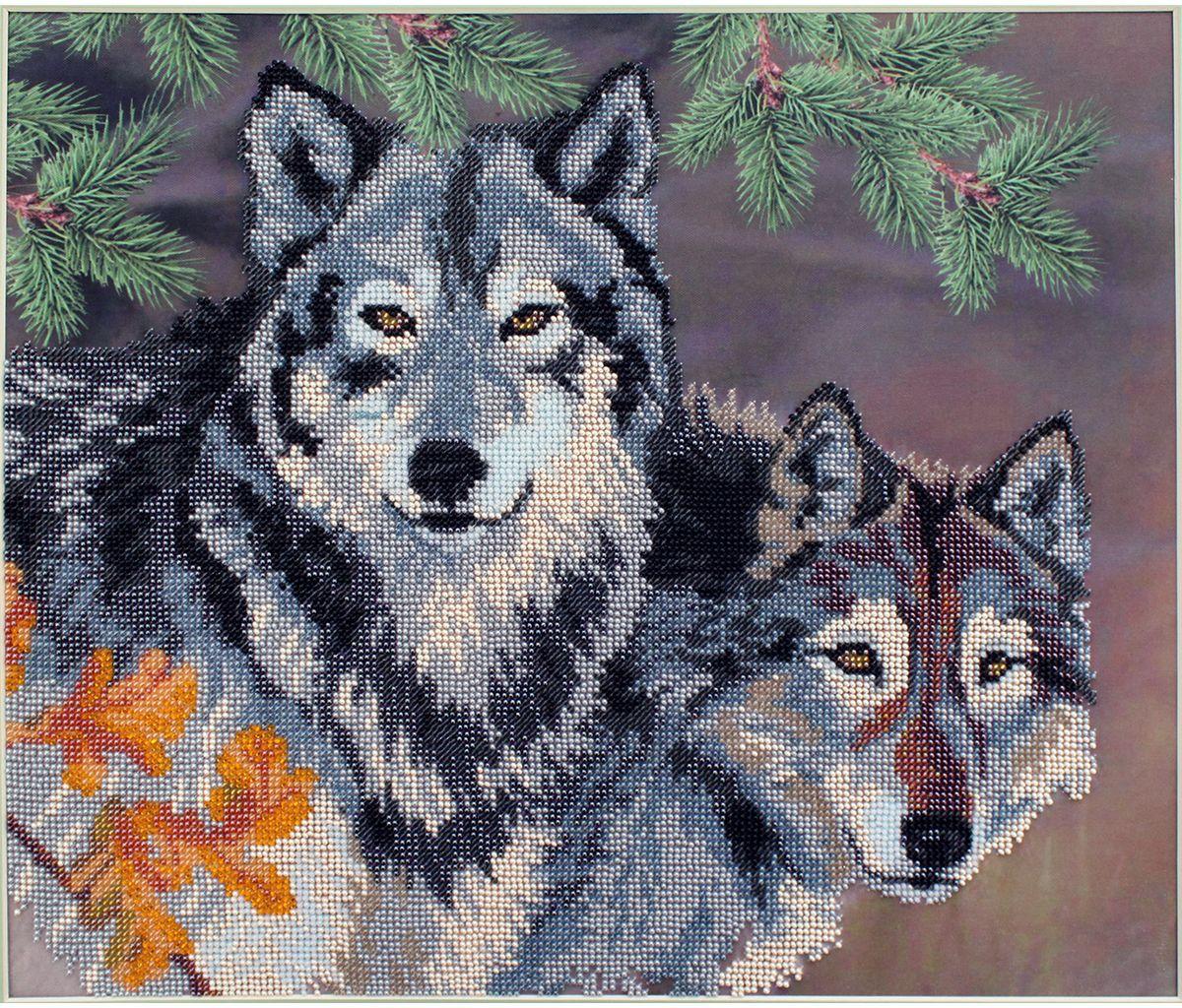 Картинки для бисера волки