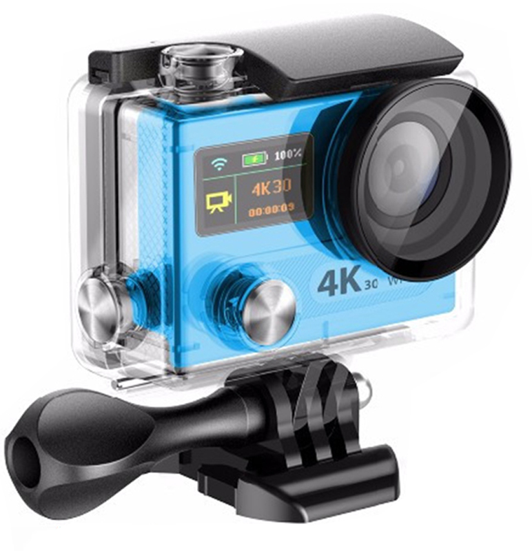 Eken H8R Ultra HD, Blue экшн-камера eken h8 h8r action camera 1080p 60fps sport cam wifi 2 0 dual screen ultra hd 4k wifi remoto control 170 degree helmet cam