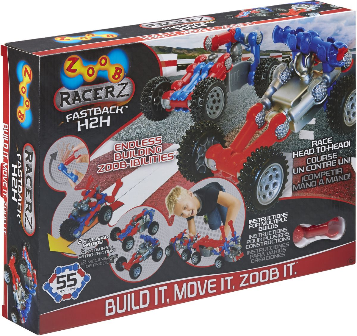 Фото - Zoob Racer Z Конструктор Fastback H2H конструктор автомобильный парк 7 в 1