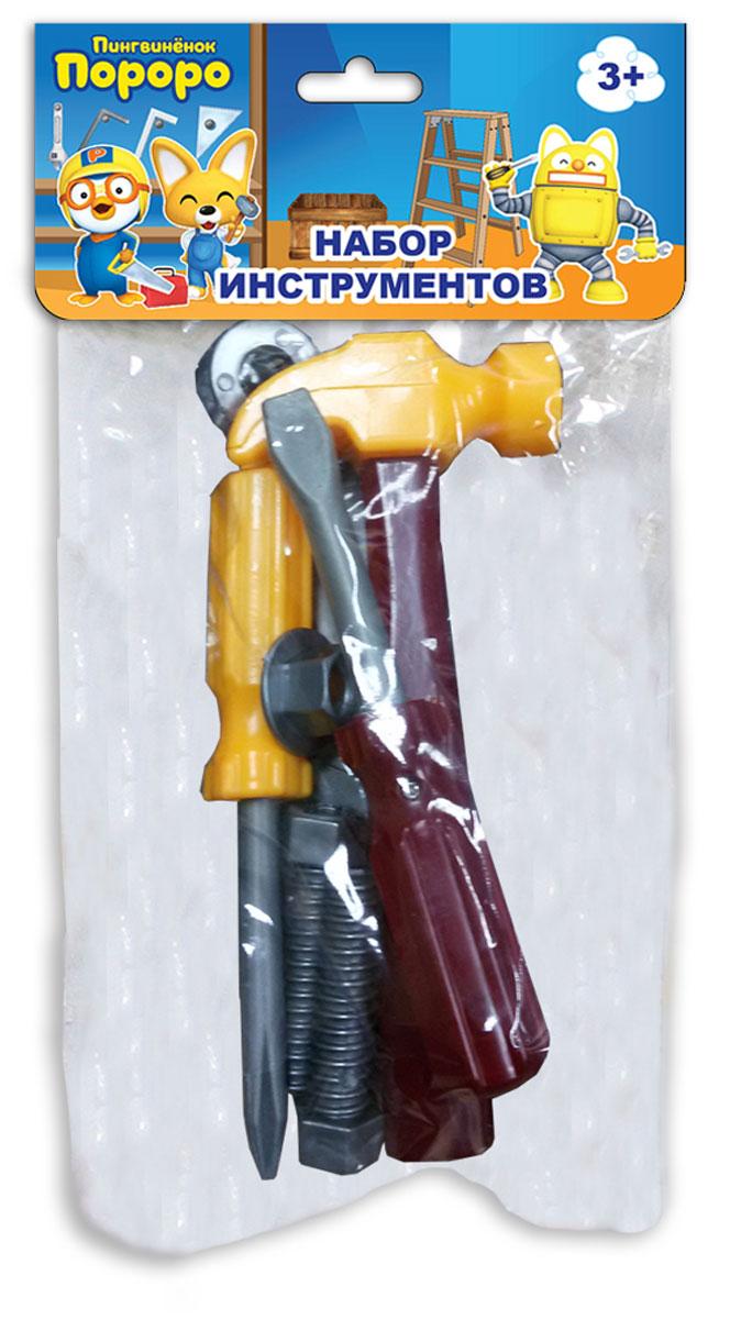 1TOY Игрушечный набор инструментов Пингвиненок Пороро 7 предметов набор насекомых игрушечных 1toy т50523