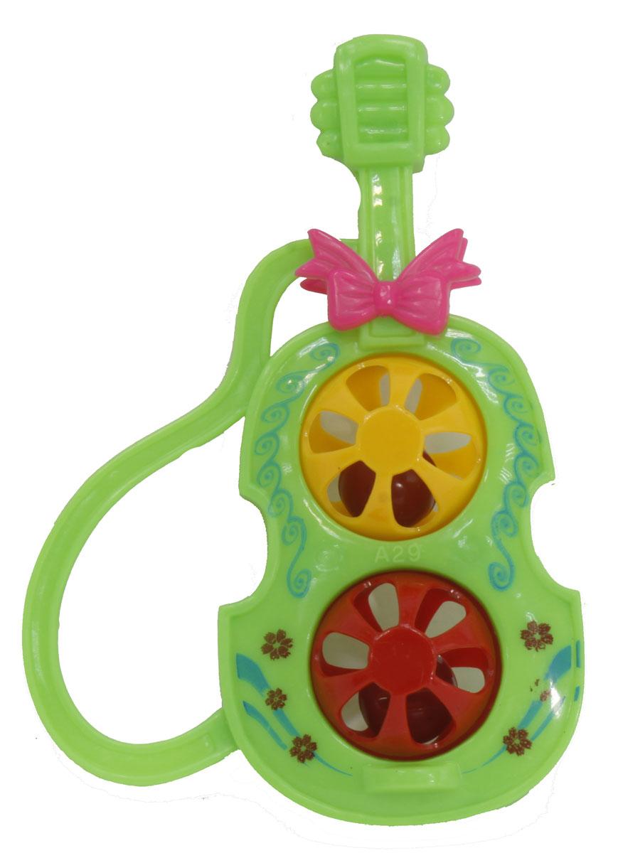 Тилибом Музыкальный инструмент Гитара цвет зеленый b dot музыкальный инструмент b dot гитара с 2 лет