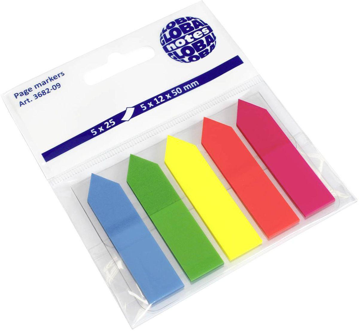 Global Notes Блок-закладка с липким слоем Стрелки 125 листов 368209