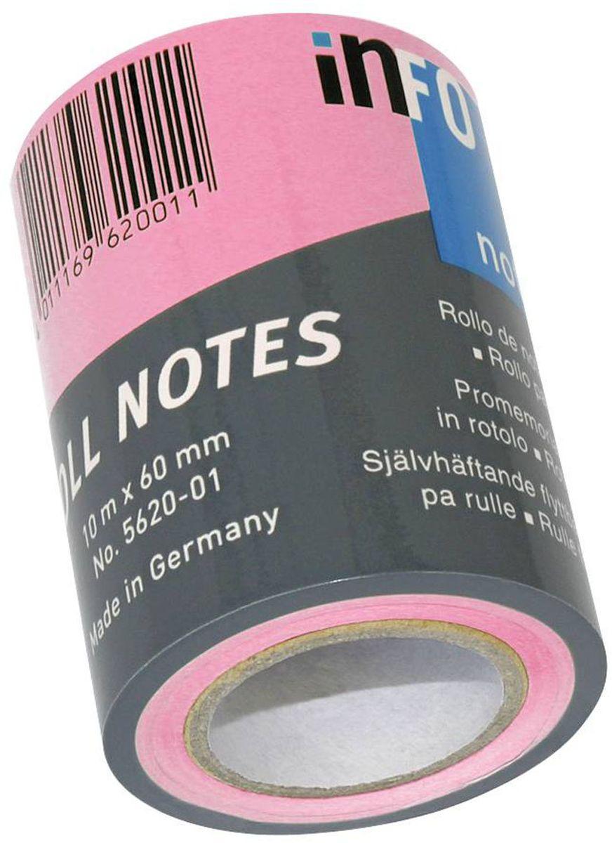 Global Notes Бумага для заметок с липким слоем цвет розовый 60 мм х10 м бумага для заметок с липким слоем 76х76 мм розовая пастель 450 л