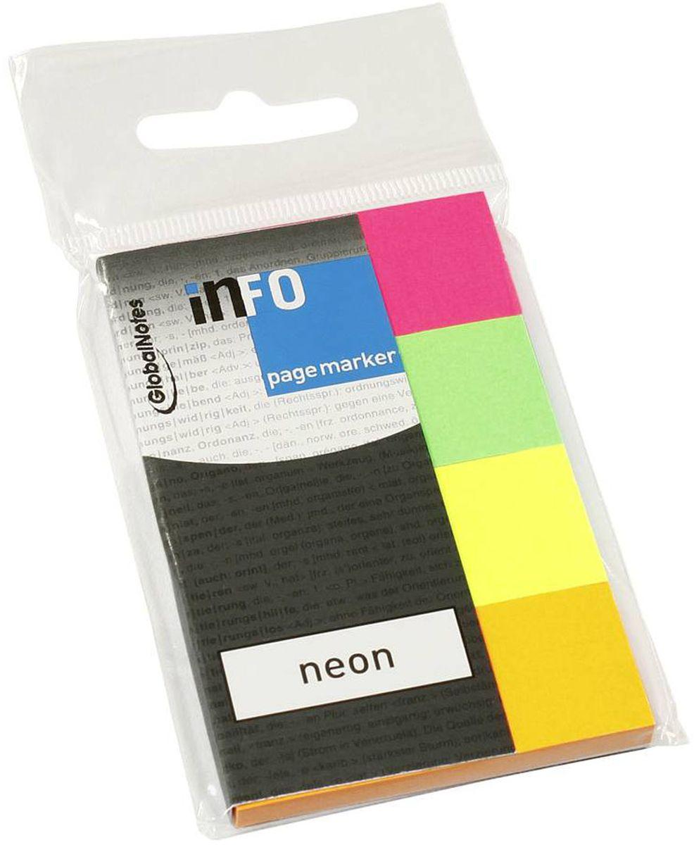Global Notes Блок-закладка с липким слоем 200 листов блок закладка с липким слоем разм 12х44мм пластик 5 цветов по 25л диспенс с ев п