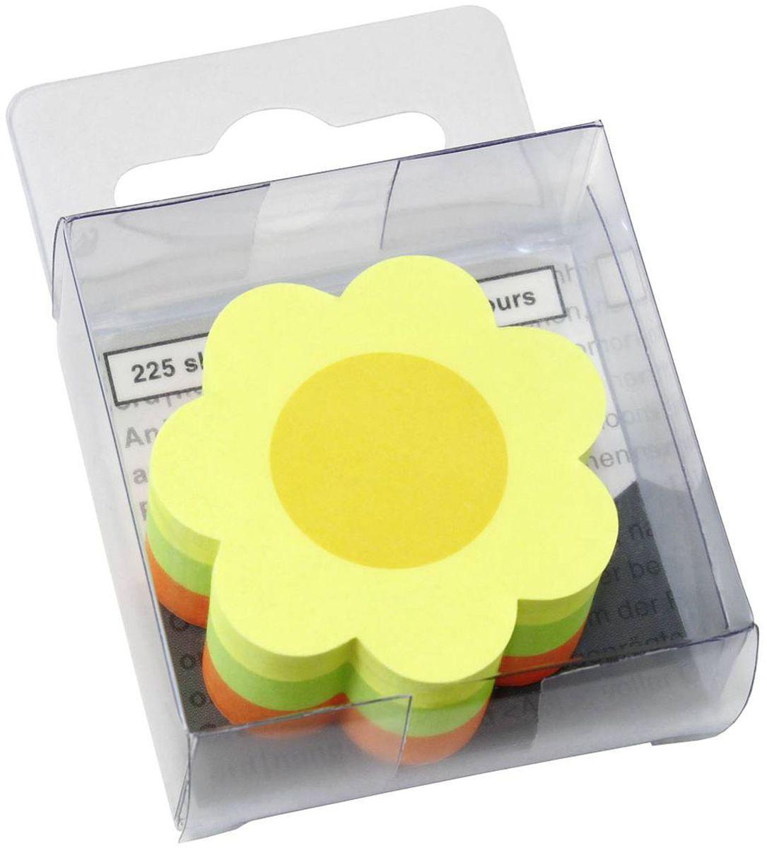 Global Notes Бумага для заметок с липким слоем Цветок 5 х 5 см 225 листов berlingo бумага для заметок c клеевым краем 7 6 х 7 6 см цвет зеленый 100 листов