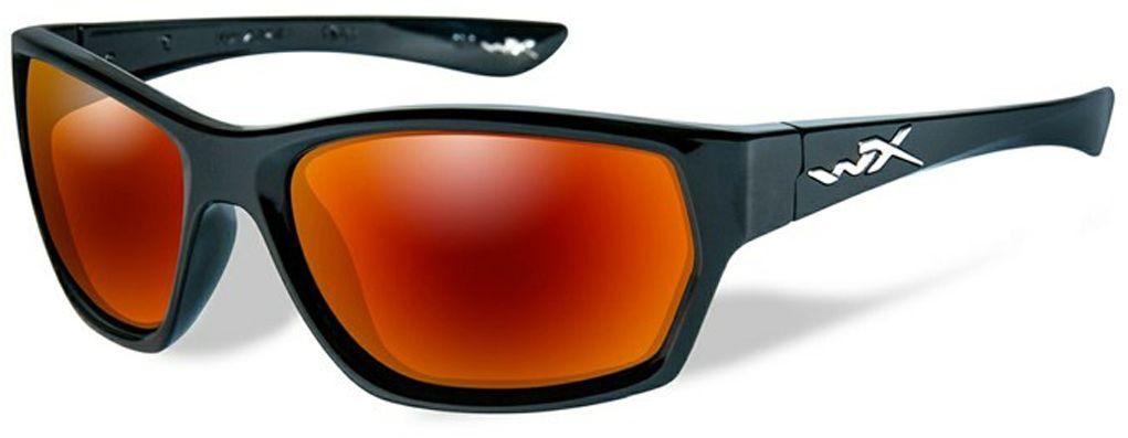 Очки солнцезащитные WileyX Moxy Polarized, для охоты, рыбалки и активного отдыха, цвет: Crimson Mirror, Smoke Grey