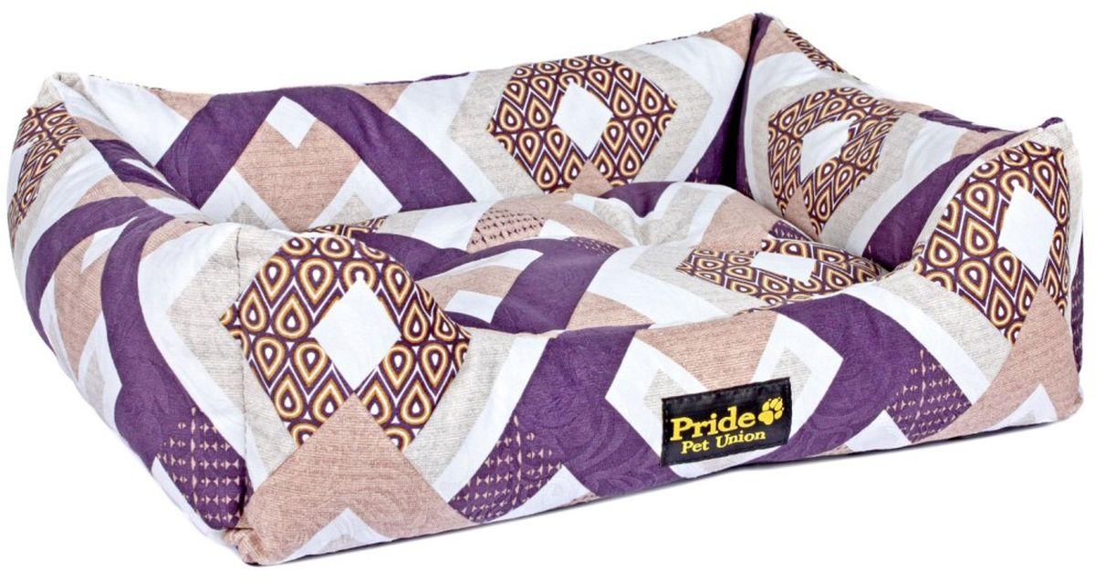 Лежак для животных Pride Этнос, 60 х 50 х 18 см лежак для животных pride кадиллак цвет мультиколор 60 х 50 х 18 см