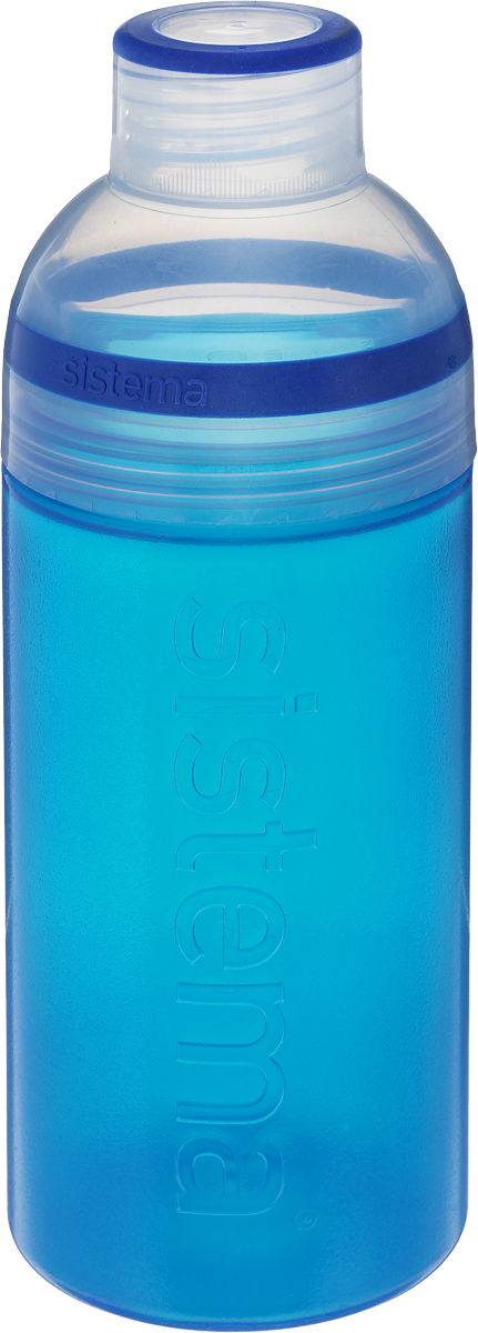 Бутылка для воды Sistema Trio, цвет: синий, 580 мл