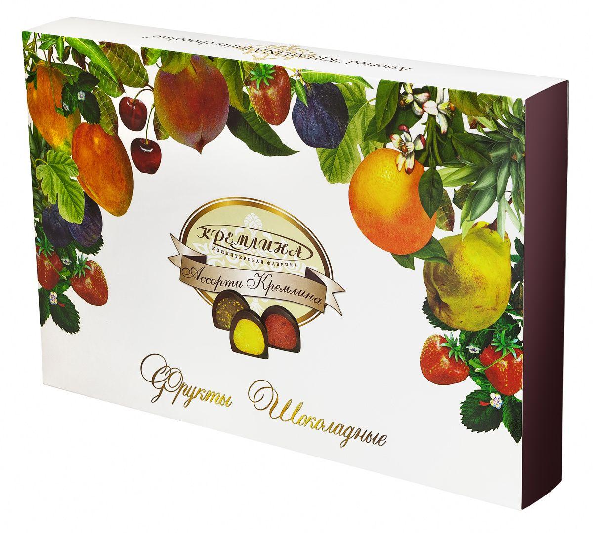 Кремлина Ассорти Фрукты шоколадные, 500 г (коробка)