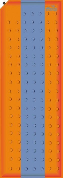 Коврик самонадувающийся Tramp, цвет: оранжевый, синий, 180 х 50 х 2,5 см. TRI-002 коврик tramp tri 002