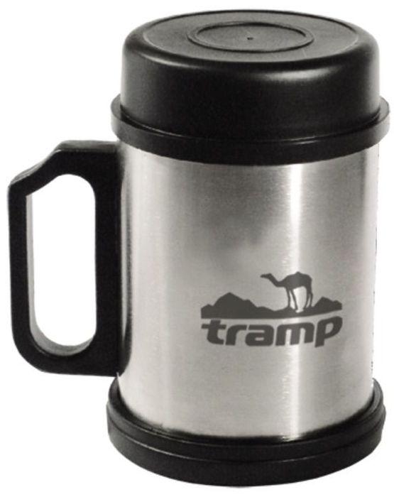 Термокpужка Tramp, с крышкой и подставкой, цвет: серый, 0,3 л. TRС-006 термокружка tramp цвет серый металлик 225 мл trc 008