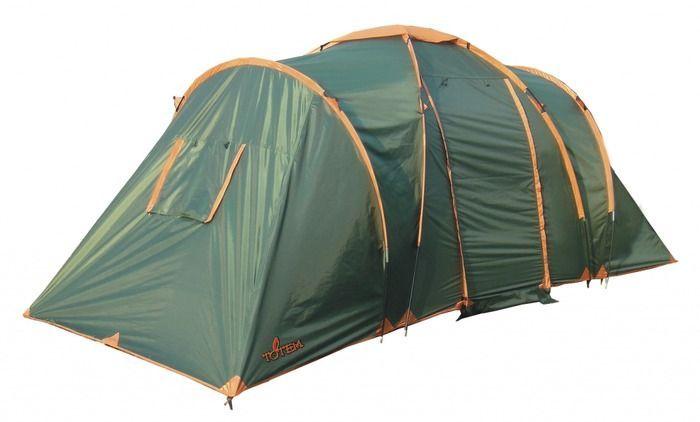 Палатка кемпинговая Totem Hurone 4, цвет: зеленый. TTT-005,09 палатка totem tepee v2 green ttt 020