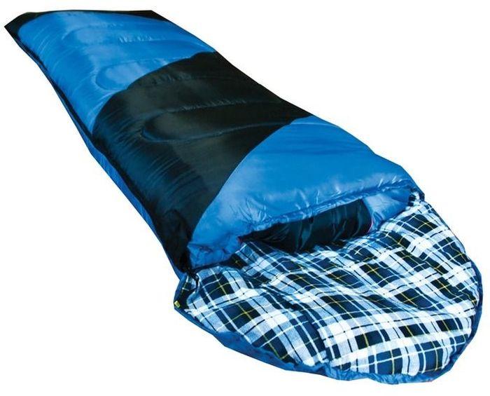 Спальный мешок Tramp Nightlife R, цвет: индиго, черный, правосторонняя молния цена