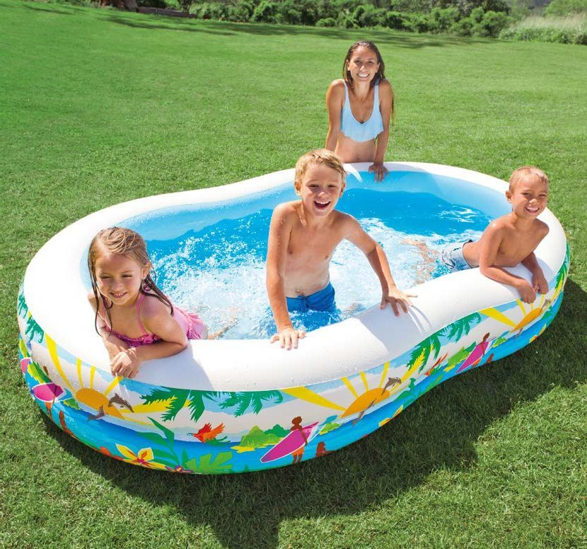 Надувной бассейн Intex Лагуна, 262 х 160 х 46 см, от 3 лет. с56490 цена