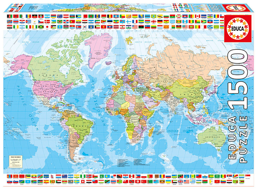 58f77c11220d6 Educa Пазл Политическая карта мира 17117 — купить в интернет-магазине OZON  с быстрой доставкой