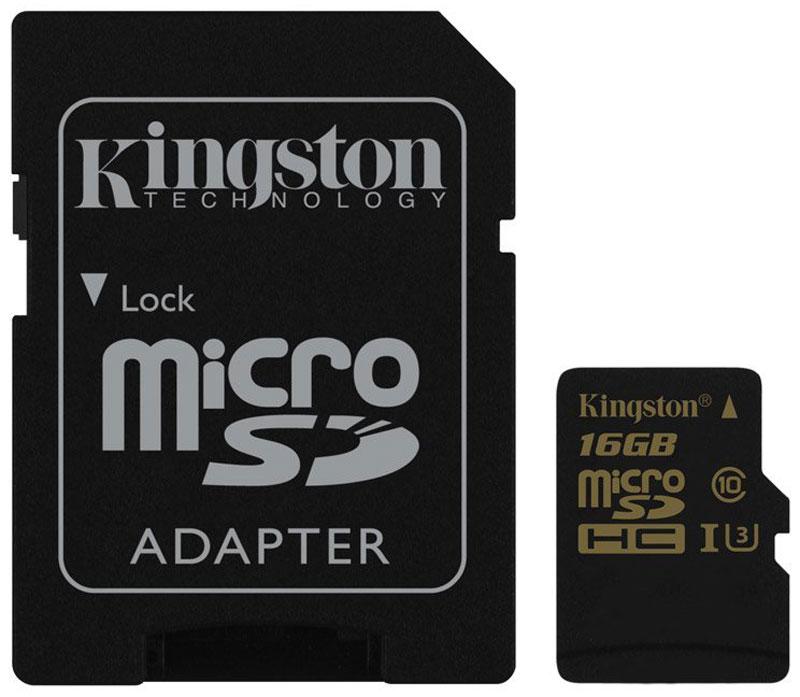 Kingston microSDHC Gold UHS-I Speed Class 3 (U3) 16GB карта памяти с адаптером карта памяти это внешняя или внутренняя