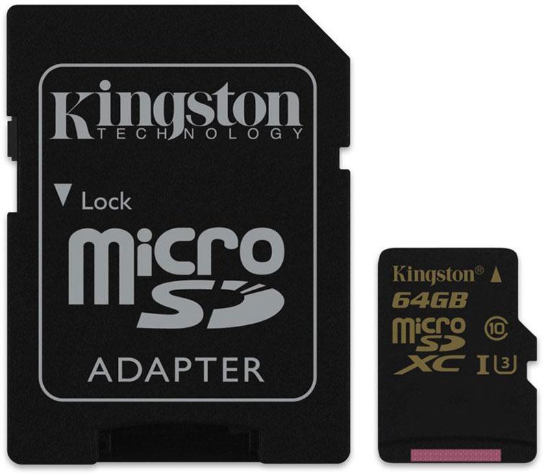 Kingston microSDXC Gold UHS-I Speed Class 3 (U3) 64GB карта памяти с адаптером карта памяти это внешняя или внутренняя