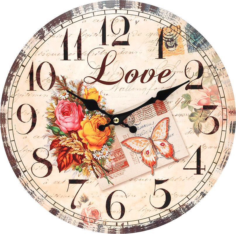 """Часы настенные Белоснежка """"Любовь"""", диаметр 34 см"""