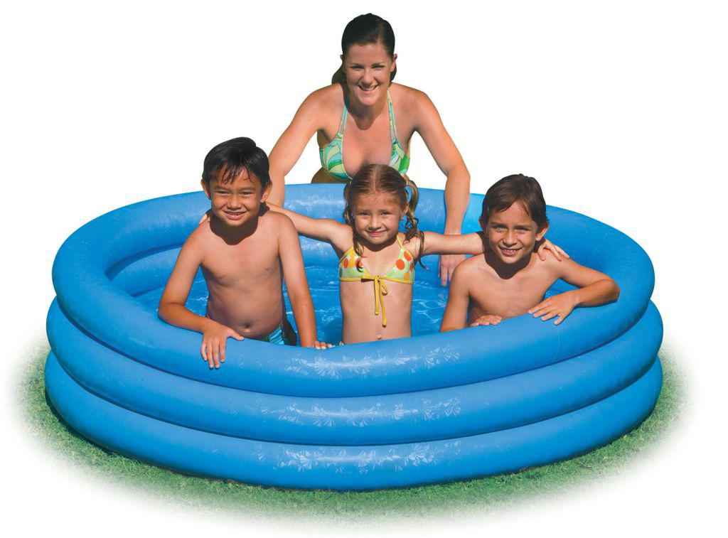 Надувной бассейн Intex Кристал, 114 х 25 см, от 3 лет. с59416 надувной бассейн intex волны 114 х 25 см от 3 лет с59419