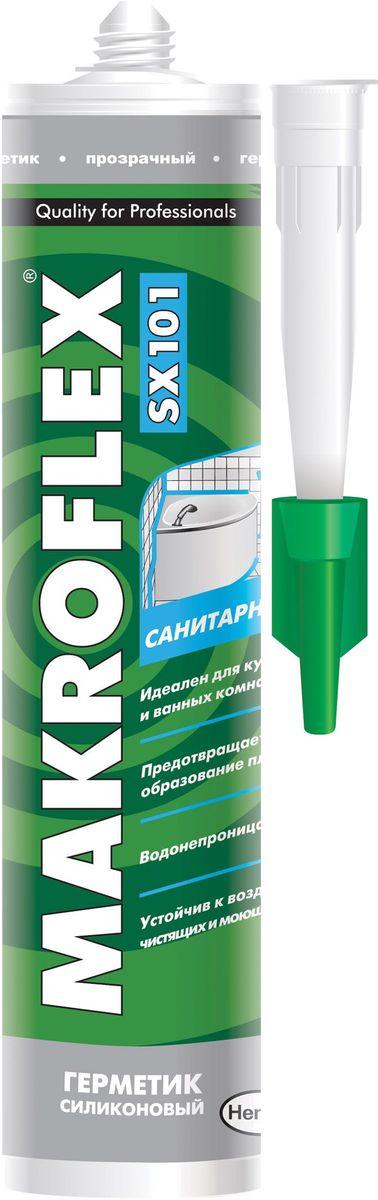 Герметик силиконовый Makroflex SX101, санитарный, цвет: прозрачный, 290 мл герметик силиконовый момент гермент санитарный цвет прозрачный 280 мл